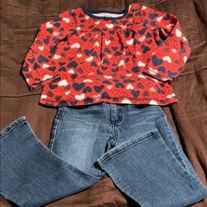 Toddler Girls Size 3T Pullover Top an d Jeans